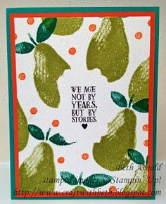 Craft with Beth: My Best Stories: Fresh Fruit Card Set Part Two Birthday Stampin' Up! Fruit Stand DSP #imbringingbirthdaysback