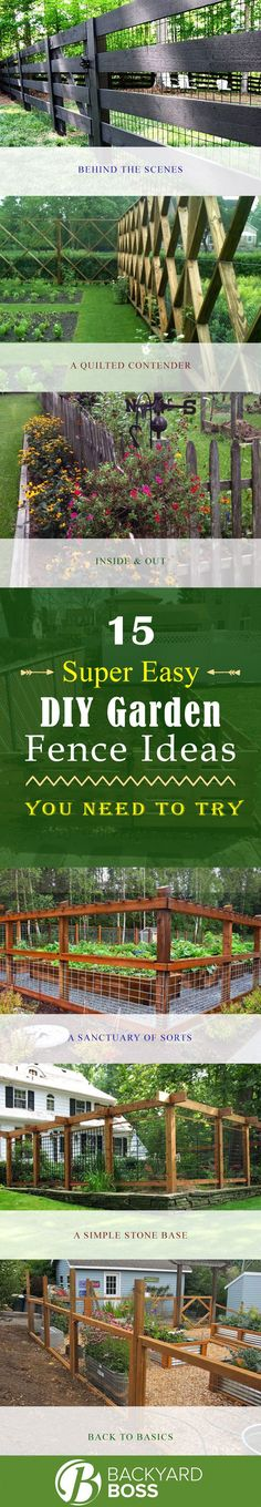 15 DIY Garden Fence Ideas With Pictures! 2019 15 Super Easy DIY Garden Fence Ideas You Need to Try The post 15 DIY Garden Fence Ideas With Pictures! 2019 appeared first on Patio Diy. Fence Landscaping, Backyard Fences, Pool Fence, Stone Backyard, Landscaping Software, Fence Design, Garden Design, Landscape Design, Aesthetic Header