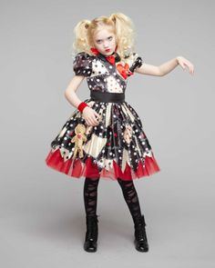 Girls Voodoo Doll Costume Set