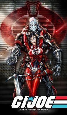GIJOE - Destro and Baroness (combat)    Source: jamietyndall.com