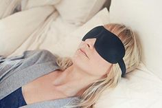 Patented Sleep Mask Nidra Deep Rest Eye Mask with Contoured Shape and Adjustable Head Strap Sleep Satisfaction Guaranteed Sleep Anywhere Anytime