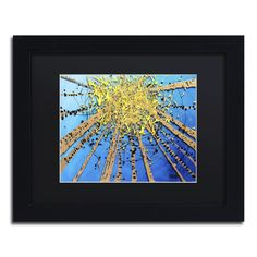Brown Aspen Sky by Roderick Stevens Matted Framed Painting Print