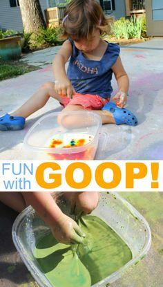 Fun with Feelie Goop for Toddlers and Kids