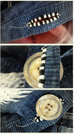 Such a simple idea for a buttonhole yet so elegant #sewing