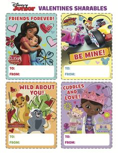 Create Disney Junior Valentines shareables with your little ones! ❤️ Send a little love from Elena of Avalor, Mickey & Minnie, Lion Guard, & Doc McStuffins! Valentines Movies, Disney Valentines, Max And Roxanne, Disney Couples, Disney Junior, Friends Forever, Cuddling, Little Ones, Mickey Mouse