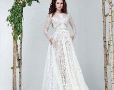 Vestido de novia FLAVIA boda boho vintage por RaraAvisAngeEtoiles