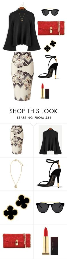"""""""Floral and Formal"""" by newkidhere on Polyvore featuring Miss Selfridge, Versace, Tom Ford, Smoke x Mirrors, Dolce&Gabbana and Kevyn Aucoin"""