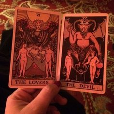 #Tarot #tarotcards #devil #lovers #red #devine