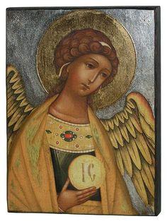 Gabriel, Byzantine Art, Art Icon, Orthodox Icons, Angel Art, Art Oil, Trinidad, Angeles, Bible