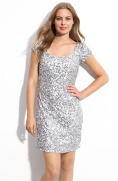529a304395 Adrianna Papell Sequin Cap Sleeve Dress (Petite)