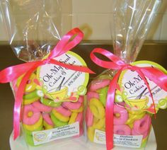 Italian Ring Cookies glazed Pink, Yellow and Lime!  The perfect Sweet!  http://shop.ohmysoulcookies-cakes.com/Gift-Package-OMS101.htm  979-268-6724