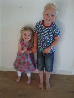 Knippie jurk, Ottobre t-shirt, naaien kinderen