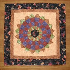 Fall Quilted Table Topper Dresden Plate Fall Table by HollysHutch