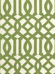 Schumacher Fabric - Imperial Trellis - Treillage/Ivory - $137.99 Per Yard #interiors #decor #design #home #trellis #green #living #room #bedroom #trend #style #olive #pattern #geometric