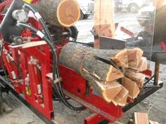 Homemade Firewood Processor Detroit Diesel Powered VIDEO