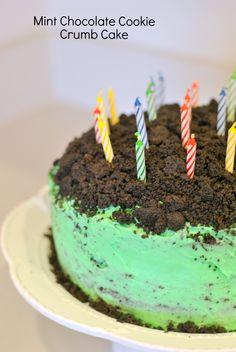..Mint Chocolate Cookie Crumb Cake