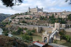 Bonita foto con el Rio tajo - Puente de Alcantara - Alcazar de #Toledo