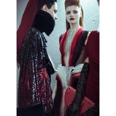 Backstage at Jean Paul Gaultier haute couture Fall/Winter 2014-2015