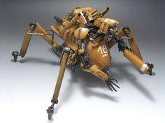 Original Ma.K. 1/20 scale Rigil Kent. By Revolve-Gear.  HASEGAWA GroβerHund remodeled. #Ma_K #Maschinen_Krieger #Sci_Fi http://revolve-gear.deviantart.com/art/1-20-Rigil-Kent-1-350078632