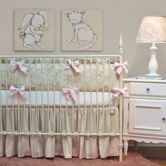 Doodlefish Peony Crib Set - traditional - kids - atlanta - by Doodlefish