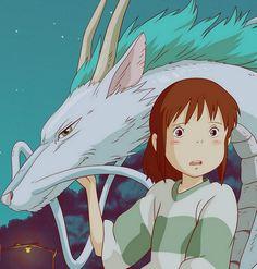 Spirited Away! Haku and Chihiro :)