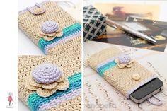 Smart phone crochet cover vintage