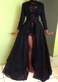 Long Sleeve Maxi Coat for Woman