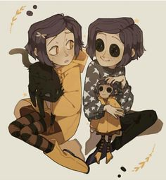 This is a beauty fan art from Coraline, my best congratulations from the person how drawing this! Coraline Art, Coraline Jones, Coraline And Wybie, Coraline Costume, Pretty Art, Cute Art, Animation, Photo Manga, Eyes Artwork