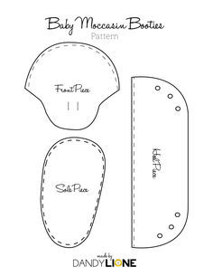 Baby Moccasin Pattern - make with elastic rather than laces- good how-to-assemble instructions