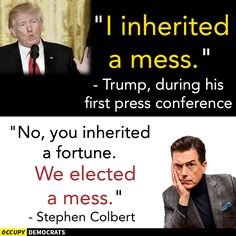 if you didn't laugh you'd cry...everyday something else, what are they tryin to hide? Caricatures, Religion, Stephen Colbert, Republican Party, Laughter, Shit Happens, Sayings, Words, Funny Politics