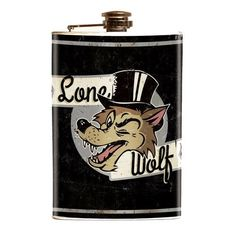 Lone Wolf Stainless Steel Flask