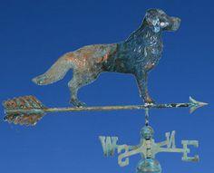 "Copper ""Retriever"" Weathervane w Directionals BHF004 | eBay"