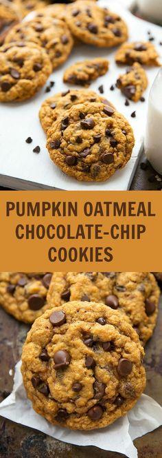 NON-CAKEY pumpkin oatmeal chocolate chip cookies