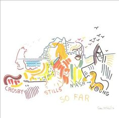 """Joni Mitchell ~ David Crosby, Stephen Stills, Graham Nash, and Neil Young; cover to their compilation album """"So Far"""" Neil Young, Lps, Rock Music, My Music, Folk Pop, Used Vinyl Records, Rock And Roll History, Crosby Stills & Nash, Rock Album Covers"""