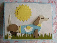 Cricut Father's Day Card. Paisley Cartridge.
