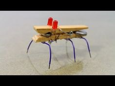 How to Make a Mini Robot bug. How to make a toy robotic bug at home. This is a simple robot made out of household materials that can move around on your desk. The materials used are super easy to come by and the projects is awesome so definitely try to Stem Projects, Science Fair Projects, Science Experiments Kids, Science For Kids, Cool Diy Projects, School Projects, Science Diy, Science Activities, Make A Robot