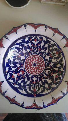 Mavicini Turkish Art, Turkish Tiles, Ceramic Plates, Decorative Plates, Wooden Books, Glazed Tiles, Arabesque, Islamic Art, Art Decor