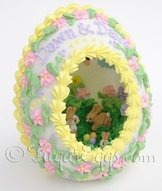 Large Panoramic Sugar Eggs for Easter by SugarEggscetera on Etsy