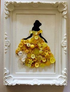Button Artwork Amazing Ideas To Try | The WHOot | Disney Princess Wall Art |  Disney Princess Bedroom Diy   | Diy Princess Bed Canopy | Princess Room Ideas On A Budget. #interiordesign #artwork Kids Crafts, Diy Craft Projects, Diy And Crafts, Arts And Crafts, Craft Ideas, Disney Diy Crafts, Project Decoration Ideas, Disney Crafts For Adults, Easy Crafts