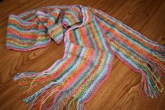 Linen Stitch Scarf Finished - Picture 1