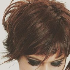 Our iconic #Haircolouring module starts this week!!! Created this look for #L'oreal India. Edgy gothic dark eyes on a choppy pixie haircut in a gorgeous hue of #L'oreal's 7.3. Learn out award winning color techniques at #AHA