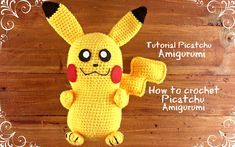 Picatchu Amigurumi   How to crochet Picatchu Amigurumi