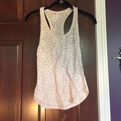 off white lace tank top worn only once & is in great condition silence + noise Tops Tank Tops