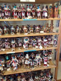 Kachina Dolls and more Kachina Dolls at La Zia in Old Mesilla.