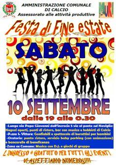 Festa di Fine Estate a Calcio (BG) http://www.panesalamina.com/2016/50612-notte-di-fine-estate-a-calcio-bg.html