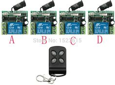 23.38$  Buy now - http://alinza.shopchina.info/go.php?t=32746575961 - Hot Sales New DC12V 10A 1 ch RF wireless remote control switch System  teleswitch 4 receiver +1 transmitter With 4 buttons 23.38$ #buyonline