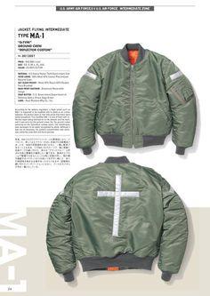 1993年にスタートし、20年以上にわたりヴィンテージミリタリーウェアの魅力を忠実に再現し続けているブランド、BUZZ RICKSON'S(バズリクソンズ)の公式カタログページ Navy Jacket, Bomber Jacket, Buzz Rickson's, Military Operations, Workwear, Gears, Men's Fashion, Fall Winter, Menswear
