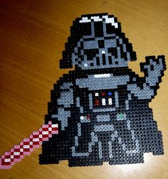 Hama Beads - Darth Vader. What I won't do for my son.