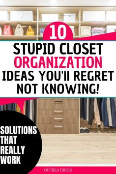 An organized closet is an absolute must to have an organized home and an organized life. Fortunately, these closet organization ideas will help you get an organized closet easy and fast. Check them out today.