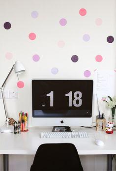 polkadot walls, parede de bolinhas, DIY, dcoracao.com - blog de decoração
